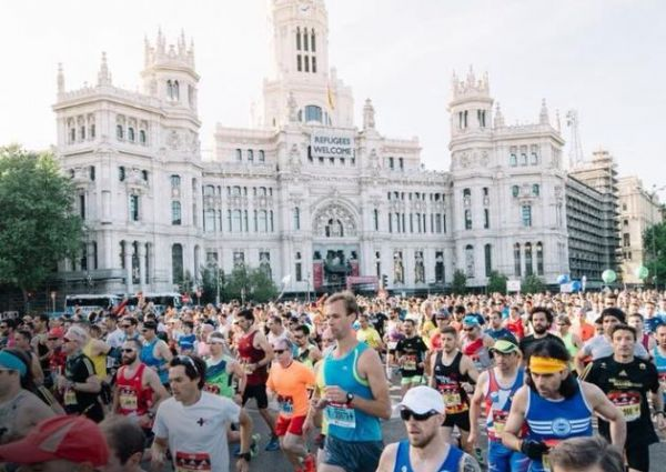 Salida del Maratón de Madrid en 2017