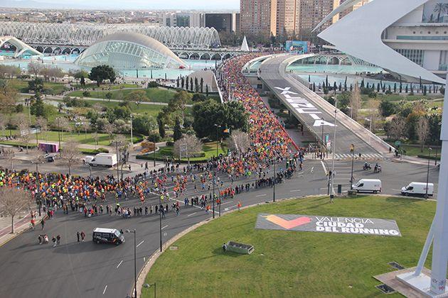 Imagen de la salida del IAAF World Half Marathon Championships Valencia