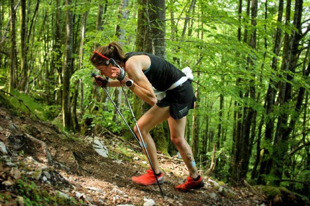 Laura Orgué, poseedora del récord de Kilómetro Vertical en Zegama  / foto: Igor Quijano