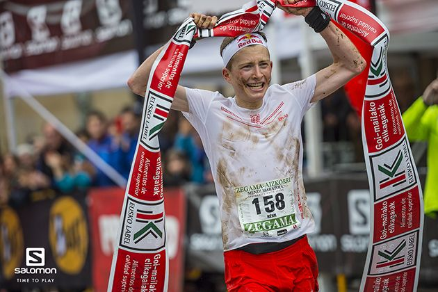Remi Bonnet, el corredor suizo de Salomon, se corona en la Zegama Aizkorri / foto: Aritz Gordo - Salomon