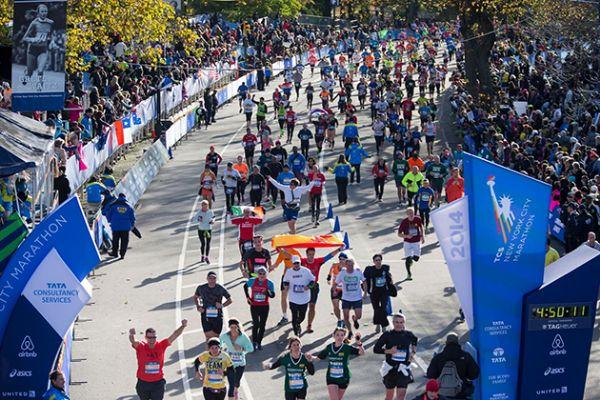 Participantes en el Maratón de Nueva York