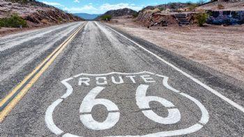 La carrera transcurría por la Ruta 66