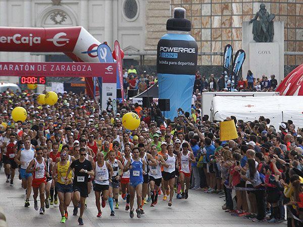 Salida del Maratón de Zaragoza 2018