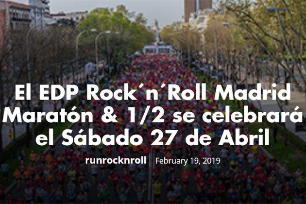 Nueva fecha EDP ROCK 'N' ROLL MADRID MARATON 2019