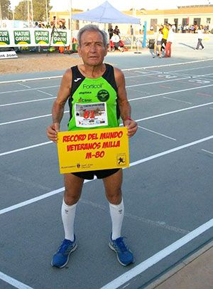 Manuel Alonso, nuestro Usain Bolt en categoría M80