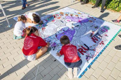 Niños jugando en el evento de la Global Energy Race de Madrid en 2018