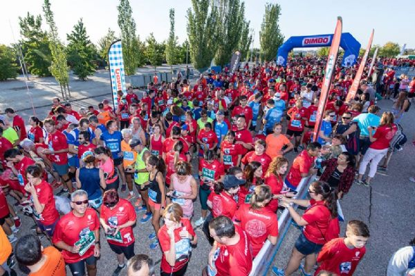 Momentos previos a la salida de la Bimbo Global Energy Race de Madrid 2018