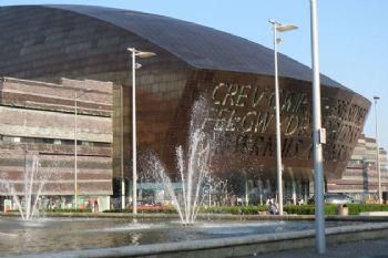 El parlamento de Cardiff, toda una experiencia visual