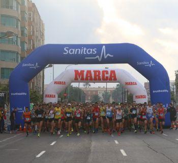 Salida de la Carrera Sanitas Marca Running Series de Valencia