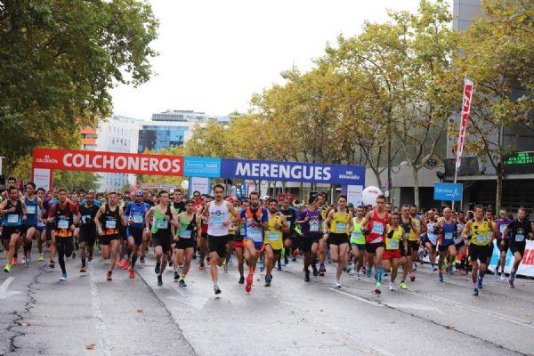 Salida del Derbi de las Aficiones de Madrid en 2018