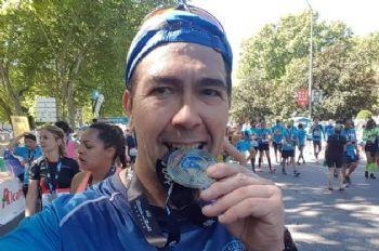 El corredor Javier Viñas, en abril de 2019