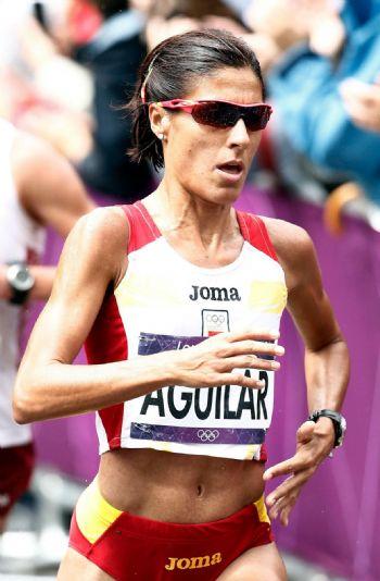 Alessandra Aguilar, durante su participación en los JJOO de Londres