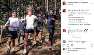 Chema Martínez es muy activo en la red social Instagram