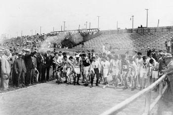 Disparo de salida de la Maratón de los JJOO de San Luis en 1904
