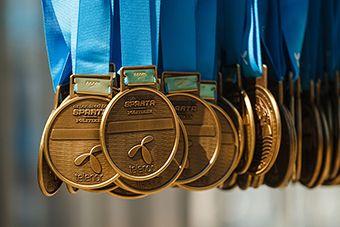 Si la carrera tiene medallas no olvides recogerla