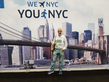 José Manuel Torralba, en la feria del Maratón de Nueva York