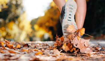 Uno de los sonidos que provoca correr: pisar sobre hojas secas