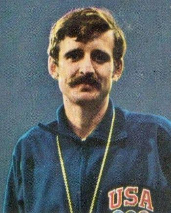 Frank Shorter, con su característico mostacho en los años 70