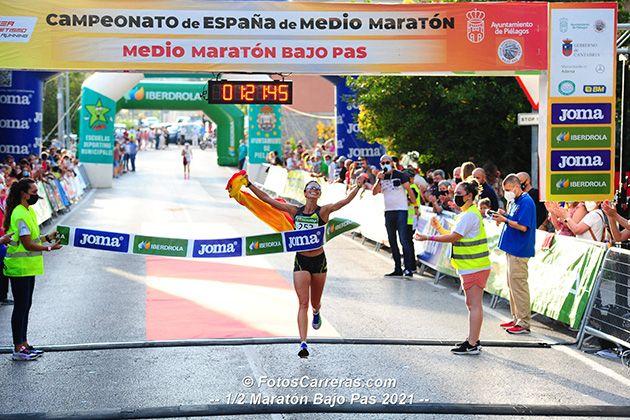 Nuria Lugueros se han proclamado campeona de España de Medio Maratón